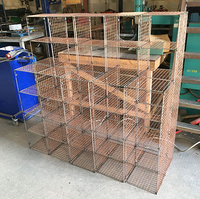 Weld mesh shelves bins and baskets poultry cages wire mesh fabrication stainless steel wire mesh