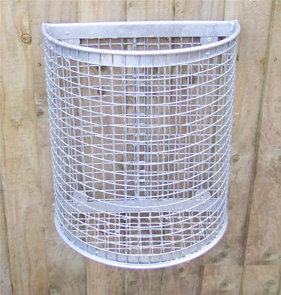 D Shaped wire mesh litter bins
